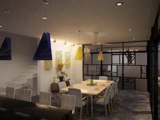 ANGOLO-grado arquitectónico Comedores de estilo moderno Multicolor