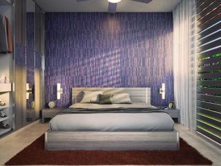 Bedroom Lights & Shades Studios Kamar Tidur Modern Purple/Violet