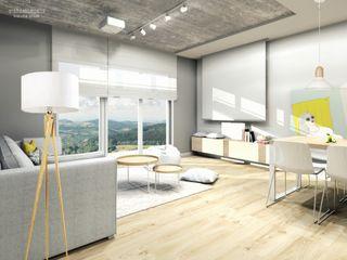 Architekt wnętrz Klaudia Pniak Salones de estilo moderno