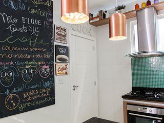Adoro Arquitetura Cucina moderna Legno Verde