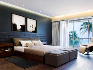 Nitido Interior design Спальня Цегла Чорний