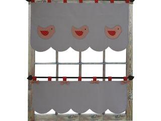Drewniany Guzik Janelas e portasDecoração de janela Algodão Cinzento