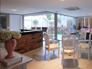 AD ARQUITETURA E DESIGN Balcone, Veranda & TerrazzoAccessori & Decorazioni Fibre naturali Rosa