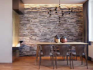 homify Modern Dining Room Stone Beige