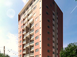Area5 arquitectura SAS Modern Evler Seramik Kırmızı
