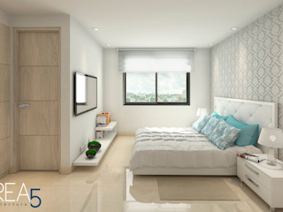 Area5 arquitectura SAS Modern Yatak Odası Bej