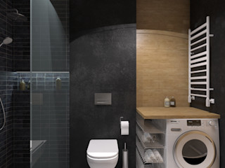 MArker Modern bathroom Concrete Black