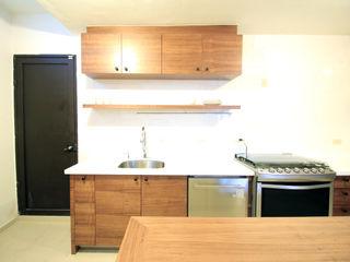 Cocina Alta Vista Sur D.I. Pilar Román Cocinas modernas Madera Acabado en madera