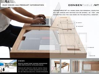 CONSENTABLE Escritório e loja Madeira Acabamento em madeira