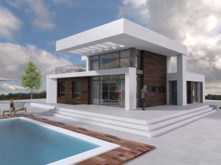 DYOV STUDIO Arquitectura, Concepto Passivhaus Mediterraneo 653 77 38 06 Casas modernas Madera Blanco