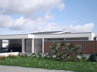 PROJETARQ Modern Houses Wood effect