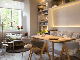 Vista mueble comedor Estudio de iluminación Giuliana Nieva Comedores de estilo moderno