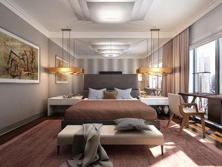 New York. New York KAPRANDESIGN Спальня в эклектичном стиле Коричневый