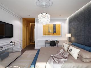New York. New York KAPRANDESIGN Спальня в эклектичном стиле Желтый