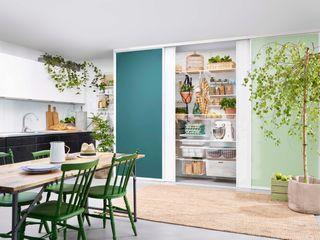 Elfa Deutschland GmbH Cocinas modernas: Ideas, imágenes y decoración Tablero DM Verde