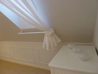 Koncepcja Wnętrz Rustic style bedroom White