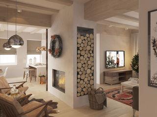 Бражинская Scandinavian style living room