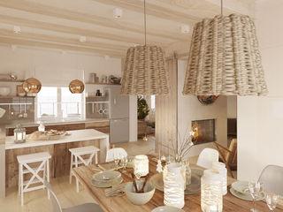 Бражинская Scandinavian style kitchen