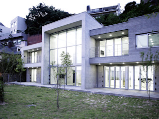 엔디하임 - ndhaim 現代房屋設計點子、靈感 & 圖片 Grey