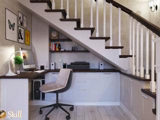 SKILL Minimalist study/office Wood White