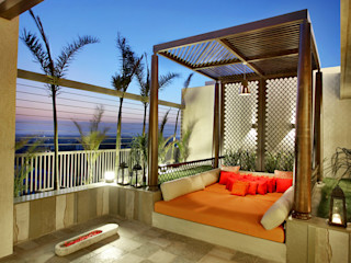 Nikhil patel residence Dipen Gada & Associates Modern style balcony, porch & terrace