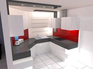 ROJAS Arquitectura Diferente KücheSchränke und Regale Weiß