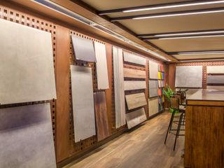 Nueva Tienda y Showroom de cerámica en Madrid Apersonal Espacios comerciales de estilo ecléctico