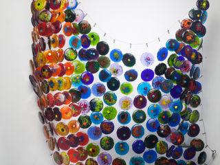 Ana Maria Nava Glass ArtworkSculptures Glass Multicolored