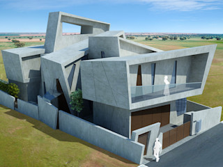 Offcentered Architects منازل أسمنت Grey