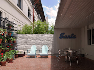 Matealbino arquitectura Modern balcony, veranda & terrace