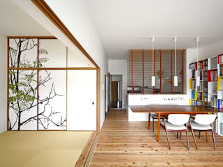 6th studio / 一級建築士事務所 スタジオロク Scandinavian style media rooms