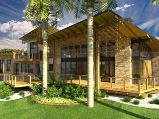 TJ Architects Modern Evler Tuğla Bej