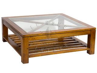 LeHome Interiors ห้องนั่งเล่นโต๊ะกลางและโซฟา ไม้