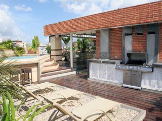 Arq Renny Molina Moderner Balkon, Veranda & Terrasse