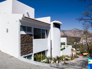 RESIDENCIA BAROCIO Excelencia en Diseño Pasillos, vestíbulos y escaleras minimalistas Piedra Blanco