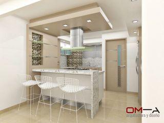Diseño de cocina om-a arquitectura y diseño Cocinas de estilo minimalista