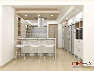 om-a arquitectura y diseño Minimalist kitchen