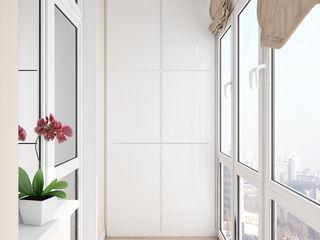 Нежный классический интерьер Tatiana Zaitseva Design Studio Балкон и терраса в классическом стиле Белый