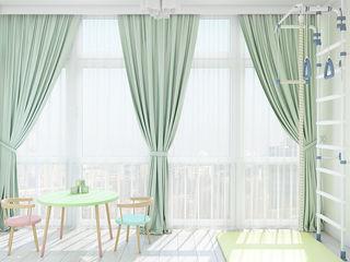 Нежный классический интерьер Tatiana Zaitseva Design Studio Балкон и терраса в классическом стиле