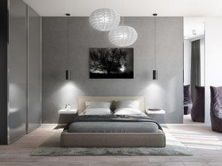 Квартира для холостяка в минималистическом стиле Tatiana Zaitseva Design Studio Спальня в стиле минимализм