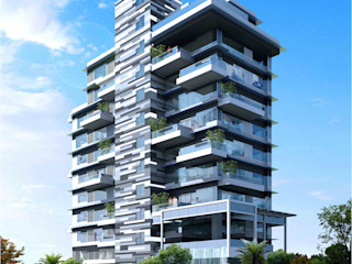 ANAND RESIDENCY HK ARCHITECTS Modern home
