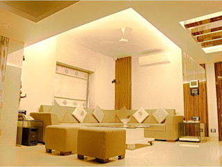 2BHK RESIDENCE HK ARCHITECTS Living room