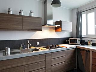 Rosny Concrete LCDA Cocinas de estilo moderno Hormigón Gris
