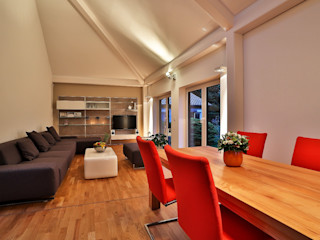 K-MÄLEON Haus GmbH Modern Dining Room White