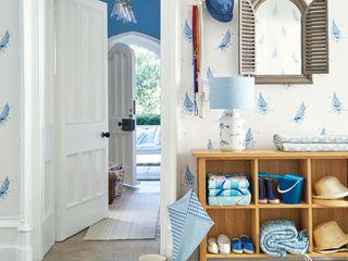 Laura Ashley Decoración Mediterranean corridor, hallway & stairs Blue
