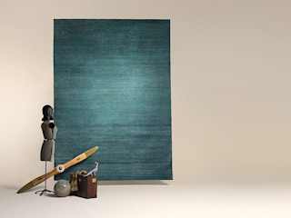 Zimmermanns Kreatives Wohnen SalonAccessoires & décorations Fibre naturelle Bleu