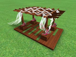 AYTÜL TEMİZ LANDSCAPE DESIGN Modern garden Wood Brown