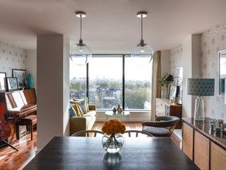 Gloucester Road Penthouse Bhavin Taylor Design Ruang Keluarga Modern