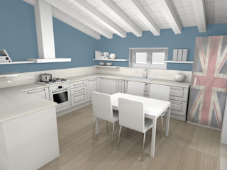 ArcKid Built-in kitchens Wood White