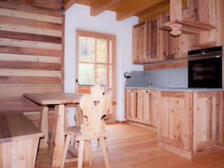 RI-NOVO Rustic style kitchen Wood